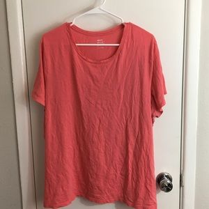 Coral relaxed fit crew neck old navy XXL