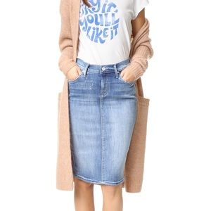 MOTHER Dresses & Skirts - Mother Denim The Peg Leg pencil Jean skirt 26
