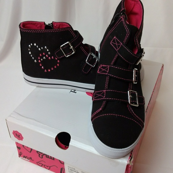 0fcfd1e9c93e Total Girl JCPENNEY sz 3 Black and Pink Shoes