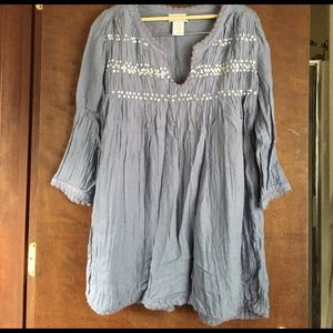 Soft Surroundings Cotton Periwinkle Tunic