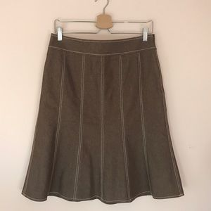 Kasper Dresses & Skirts - Talbots Brown A Line Denim Skirt Size 8P