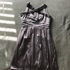 bebe Dresses & Skirts - Beautiful silver Bebe party dress