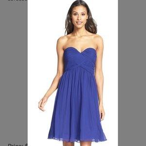 Donna Morgan Dresses & Skirts - 💙👗Donna Morgan Strapless Ruched Chiffon Dress