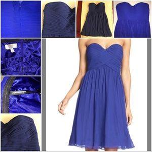Donna Morgan Dresses & Skirts - 💙👗DM Sweetheart, Strapless Ruched Chiffon Dress