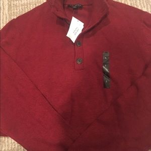 Banana Republic Other - NWT BANANA REPUBLIC MENS RED SWEATER BUTTON DOWN