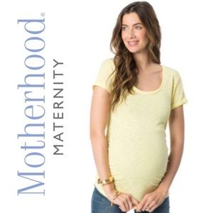 Yellow Motherhood Maternity Top