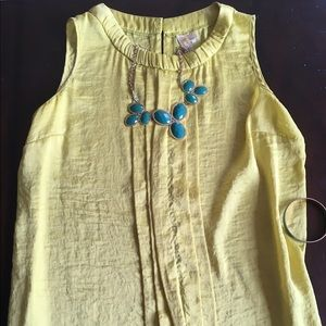 Adia Tops - Spring/Summer Yellow Blouse