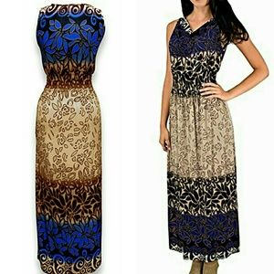 New maxi dress blue or teal