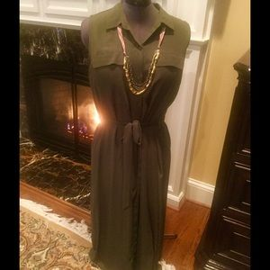 Who What Wear Dresses & Skirts - ♦️Who What Wear midi shirt dress in olive green