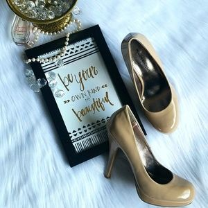 Madden Girl Shoes - 🎉HP🎉 Bree Nude Leather Platform Heels