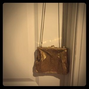 Vintage Gold Beaded Coin Purse