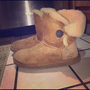 Chestnut UGG Bailey Button Boots
