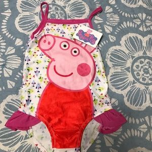 Peppa Pig Other - NWT Girl's Size 3-4 Peppa Pig Fish 🐟 Swimsuit!