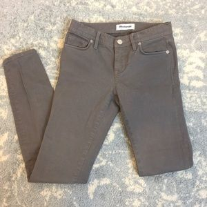Madewell Denim - Madewell Grey Denim Skinny Jeans