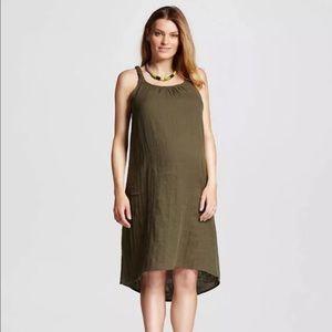 Liz Lange Maternity Olive Green Dress