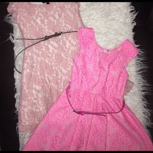Zunie Other - 2️⃣Pink Girls Dresses 👗with belts