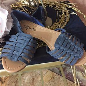 Paprika Shoes - Paprika denim look flat sandals