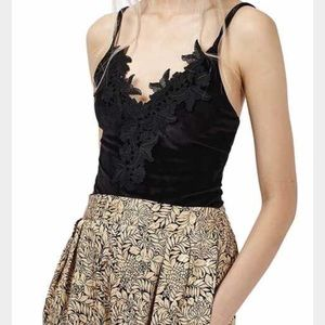 TOPSHOP Black Lace Body Suit