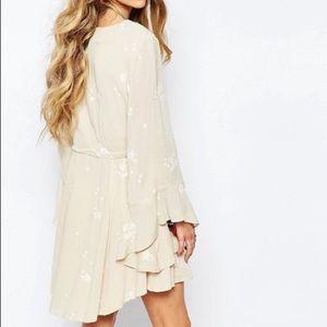 Free People Jasmine Mini Dress or Tunic in Almond
