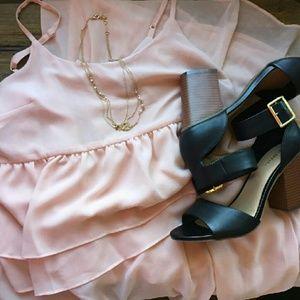 WHOWHATWEAR Dresses & Skirts - FLASH SALE Light Pink Ruffle Dress