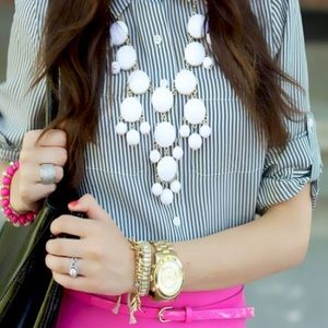 J.Crew white bubble necklace
