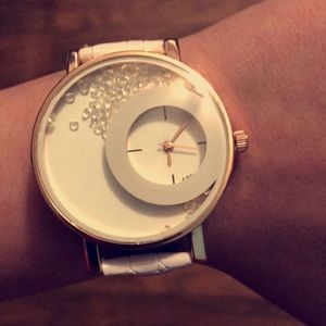 Accessories - White Crystal Watch