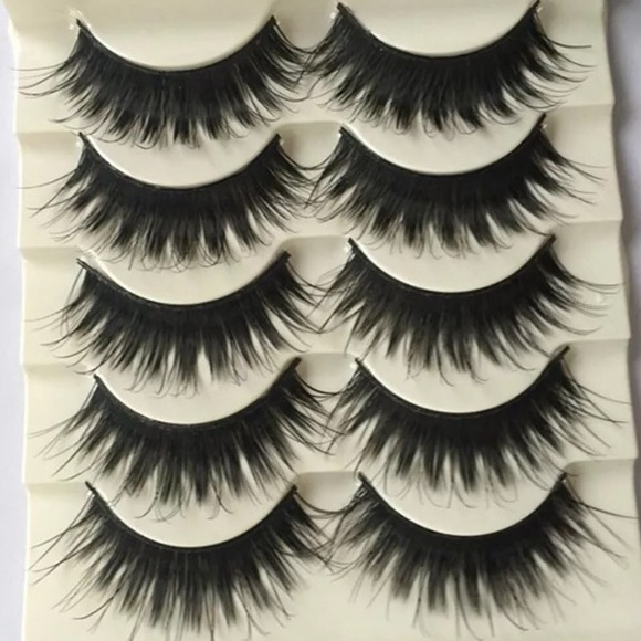 Makeup Thick Black Natural Look Eyelashes Poshmark