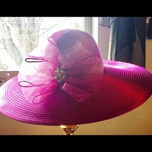 Accessories - Purple women's fancy hat