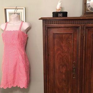 Charlotte Ronson Dresses & Skirts - I 💕Ronson Pink Polka Dot Dress