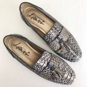 Lanvin Shoes - Lanvin brown / taupe snakeskin tassel loafers
