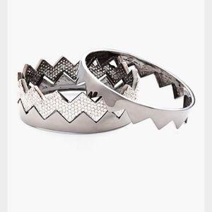 Eddie Borgo Jewelry - Eddie Borgo- pave bear trap bangles