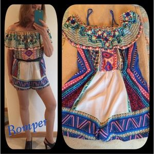 Flying Tomato Pants - FLYING TOMATO 🍅 Off the Shoulder Colorful Romper