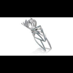 Eddie Borgo Jewelry - Eddie Borgo- silver plated open wing hinged ring