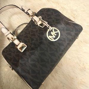 Michael Kors Grayson Signature Leather Bag Satchel