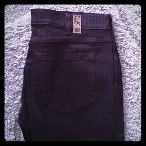 Skargorn Denim - Skargorn Purple and Black Pinstripe Jeans