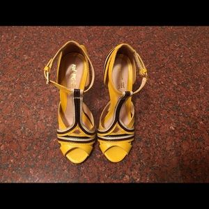 L.A.M.B. Yellow Leather Tailynn Heel