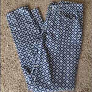J. Crew Geometric Print Stretch Skinny Jeans