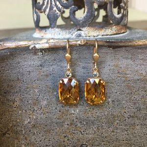 Catherine Popesco Jewelry - Catherine Popesco gold crystal earrings