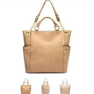 Olivia + Joy Handbags - DAY SALE! ✨CREAMSICLE SNAKE TOTE OLIVIA+JOY✨ NWT