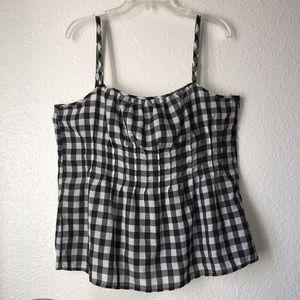 New York & Co. Black/White Cami strap top