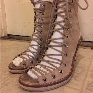 Ann Demeulemeester Shoes - Ann Demeulemeester lace-up boots sz 37.5