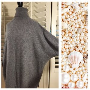 Garnet Hill Sweaters - Cashmere batwing turtleneck sweater
