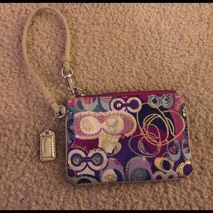 Coach Handbags - Authentic coach bling wristlet !