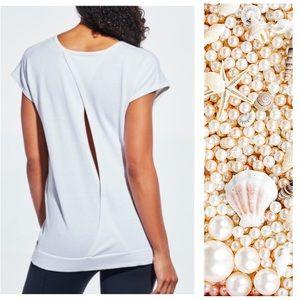 CALIA by Carrie Underwood Tops - Calia Effortless Open Back Short Sleeve Sweater