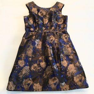 Donna Ricco Dresses & Skirts - Gold & Blue Floral Dress