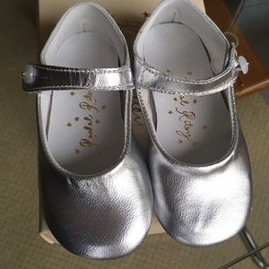 Rachel Riley Other - Rachel Riley luxury baby silver leather shoes