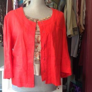 Jackets & Blazers - 🌻Bright Linen Crop Jacket - RED RAVE🌻