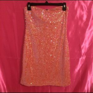 As U Wish Dresses & Skirts - Pink Sequins dress