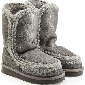 Mou Shoes - MOU Metallic Eskimo Sheepskin Boots