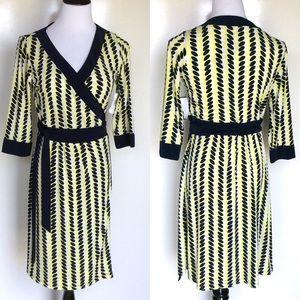 Melissa Masse Dresses & Skirts - Melissa Masse Citron Navy Seeds Wrap dress
